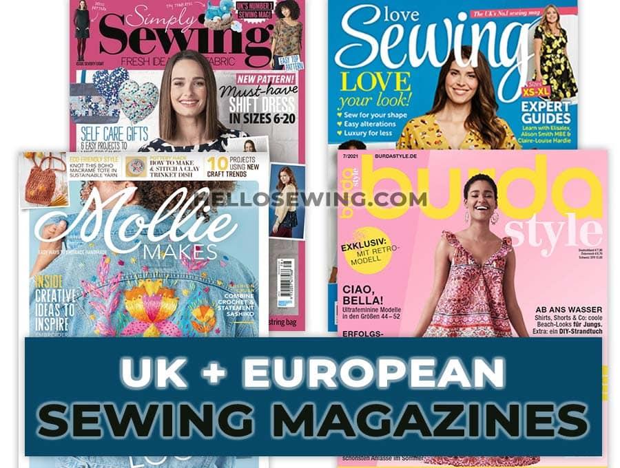 europe and uk sewing magazines