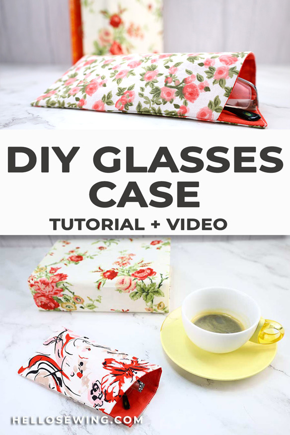 How to sew glasses case with FREE eyeglass case pattern