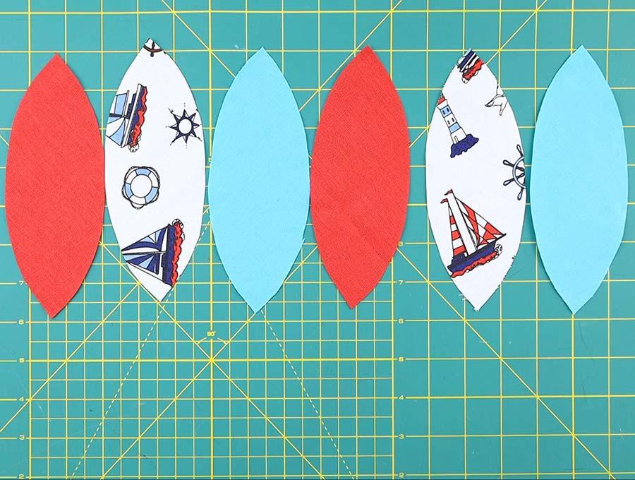 diy fabric ball arrange fabrics