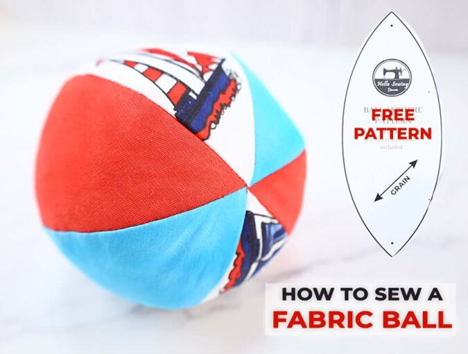 how to make a fabric ball pattern and tutorial