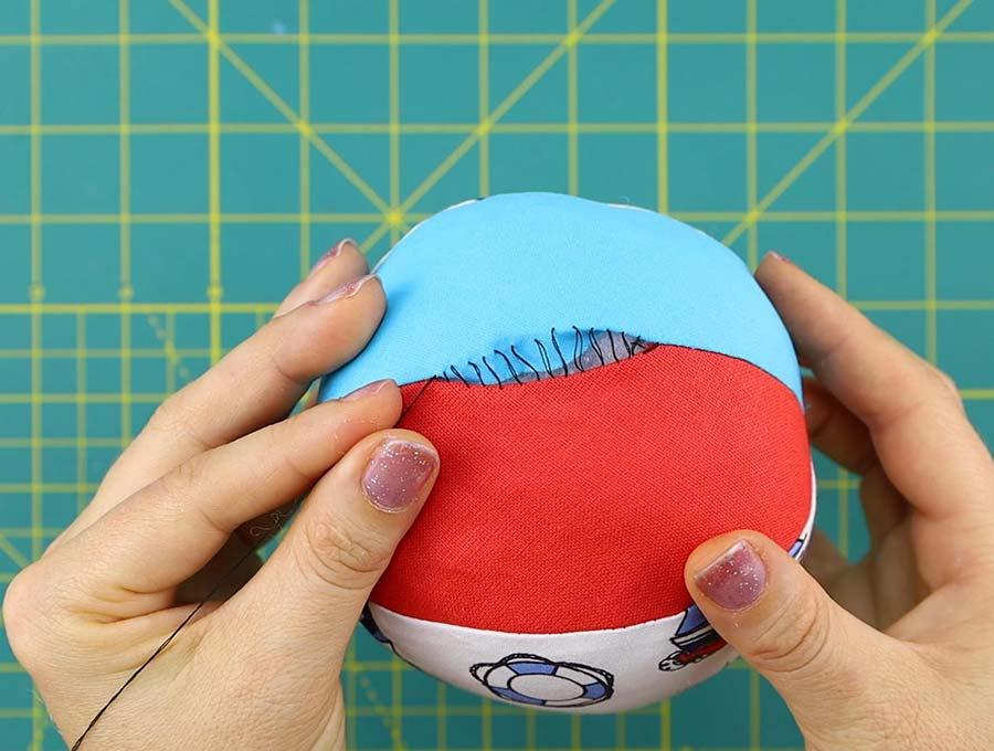 fabric ball stitching the gap