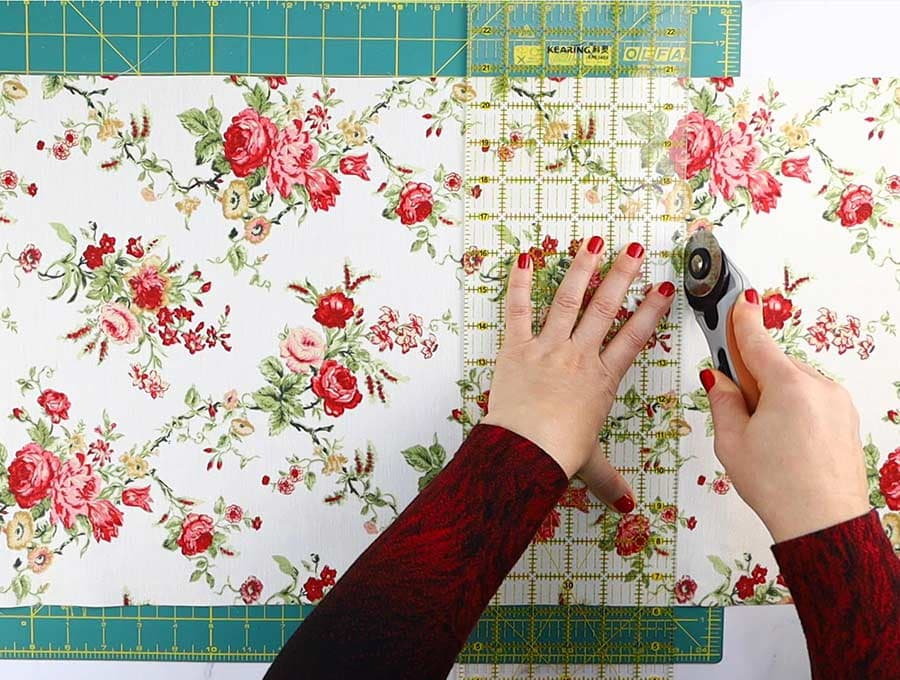 cutting fabric to sew fabric book jacket