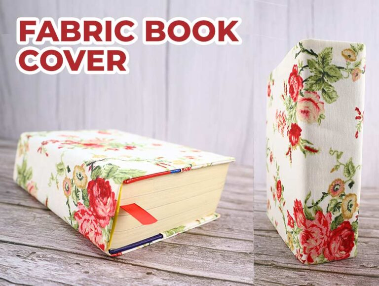 How to Make a Fabric Book Cover (VIDEO) – Easy Book Jacket