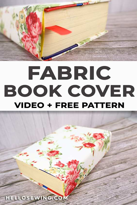 how to sew a book cover and FREE book cover pattern
