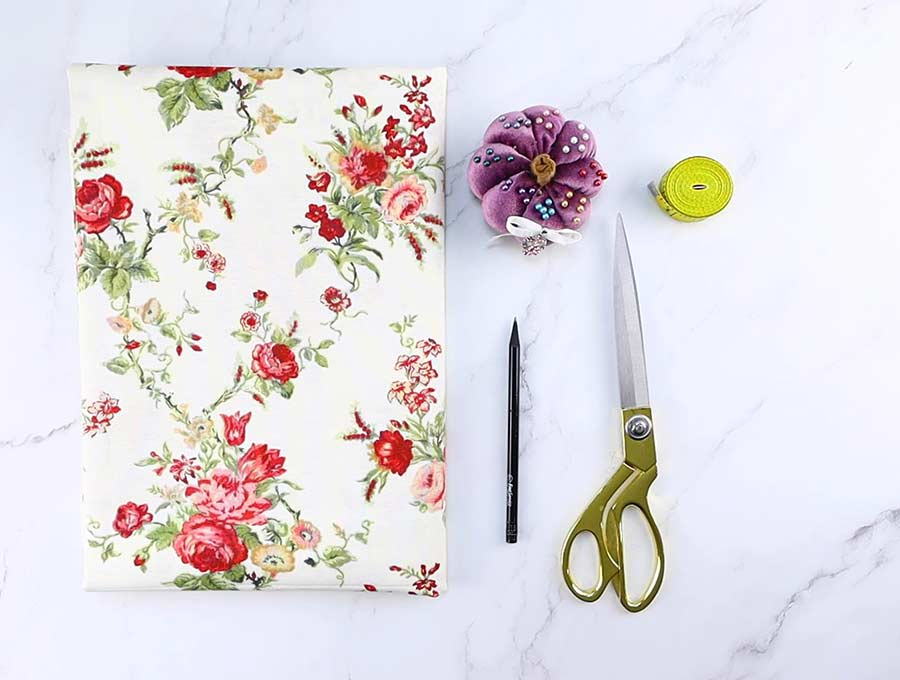 supplies needed to sew fabric book cover