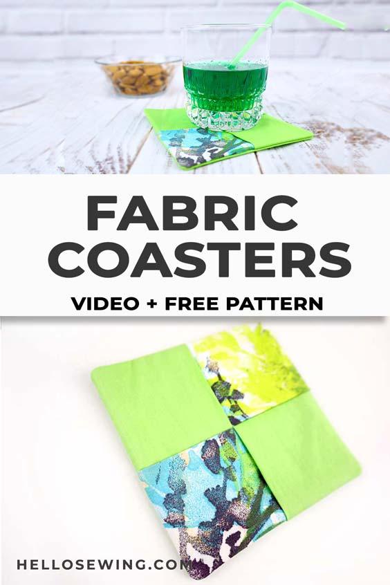 How to make fabric coasters