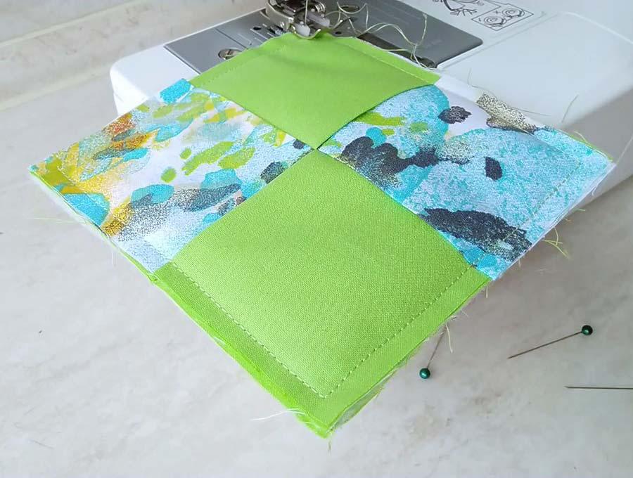 sewing around diy fabric coasters