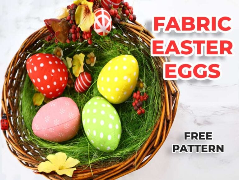 Cute Fabric Easter Egg + Free Sewing Pattern and VIDEO Tutorial