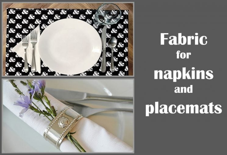 What is the best fabric for table napkins and placemats