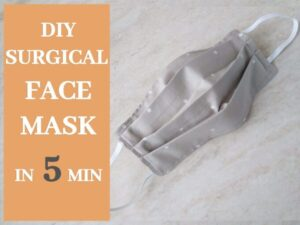 how to sew a surgical face mask