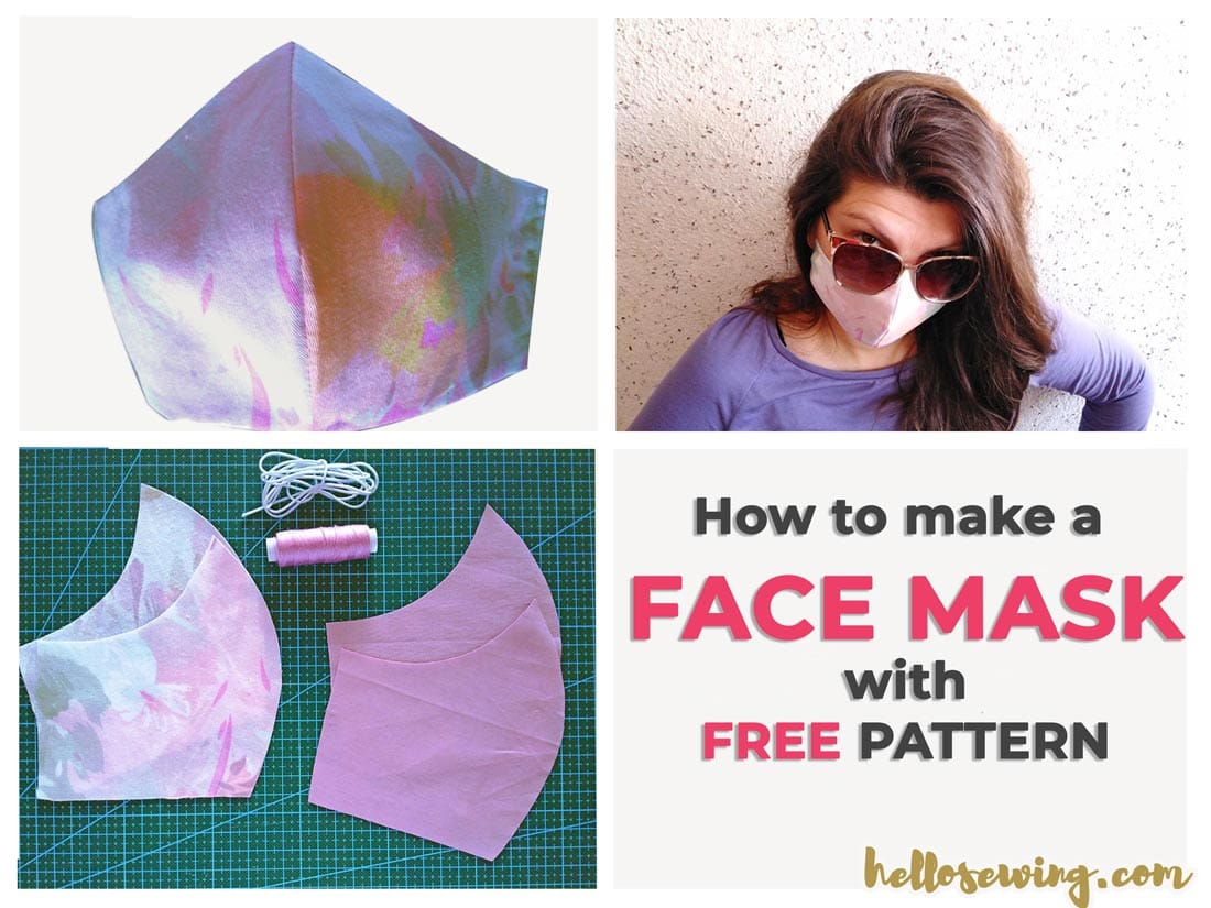 Face Mask Pattern (FREE) - How To Make Diy Mouth Mask