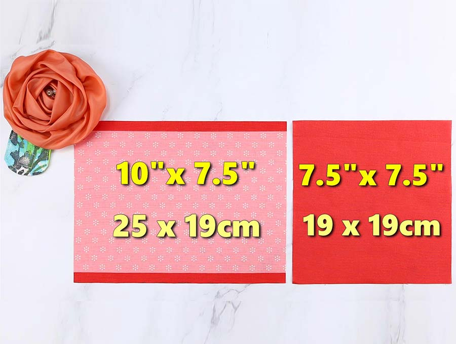face mask for glasses - fabric sizes