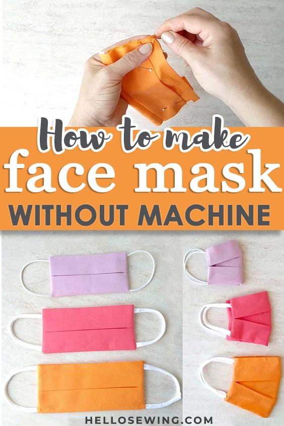 diy face mask no sewing machine