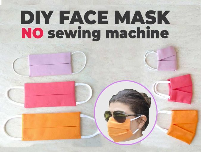 DIY face mask no sewing machine required