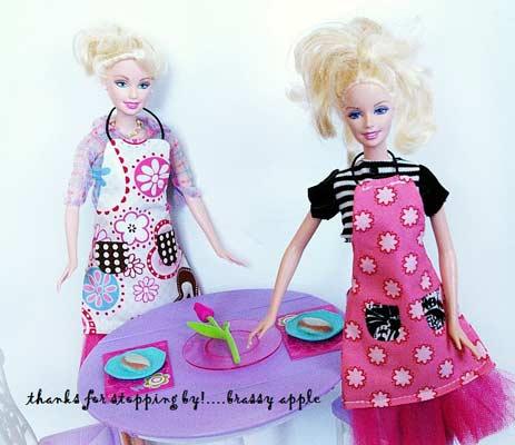fashion apron for barbies