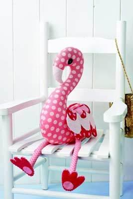 free stuffed flamingo pattern