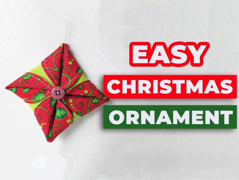 Folded Fabric Ornament | Handmade Christmas Decoration