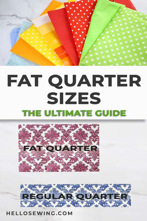 fat quarter sizes = the ultimate guide