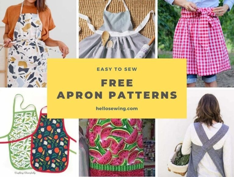Free Apron Patterns You Can Sew in an Afternoon