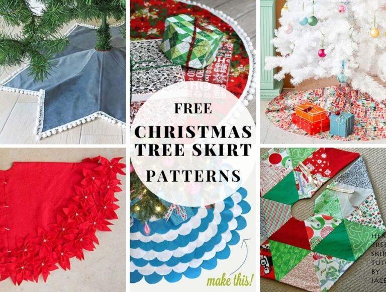 Best 25+ Free Christmas Tree Skirt Patterns