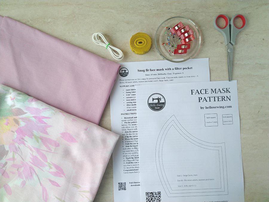 Face mask materials