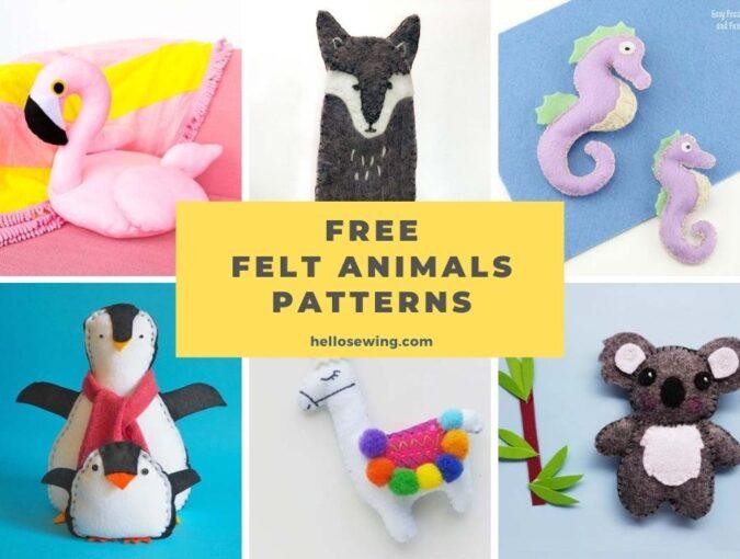 Free felt animals patterns