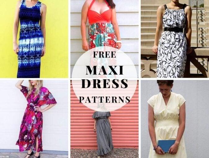 free maxi dress patterns and long dress tutorials