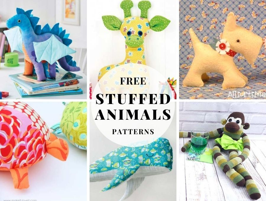 Free plushie patterns - over 30 easy and free tutorials