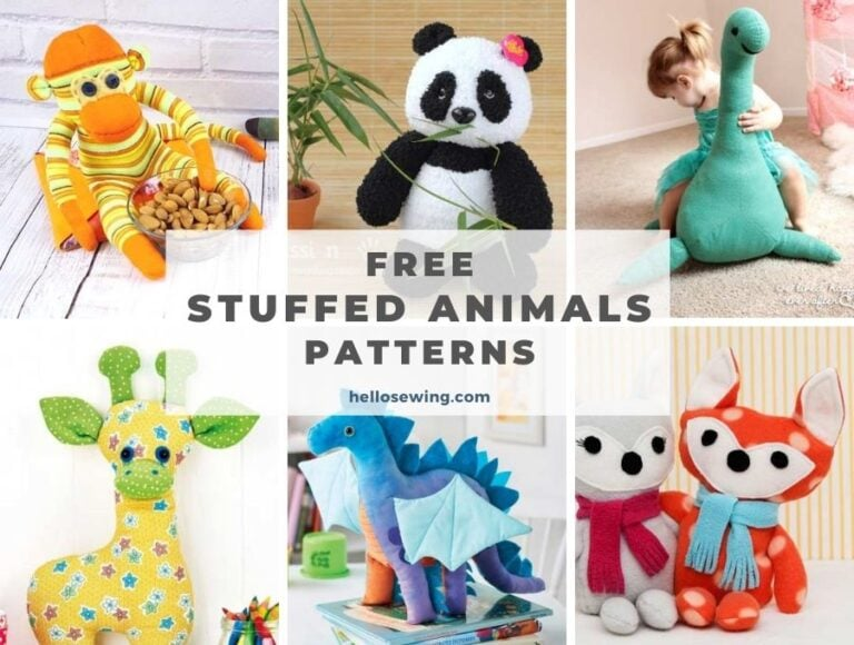 30+ Free Stuffed Animal Patterns – The Best and CUTEST Plushies