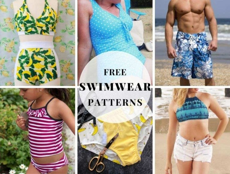 15+ FREE Swimsuit Sewing Patterns for Everyone in the Family