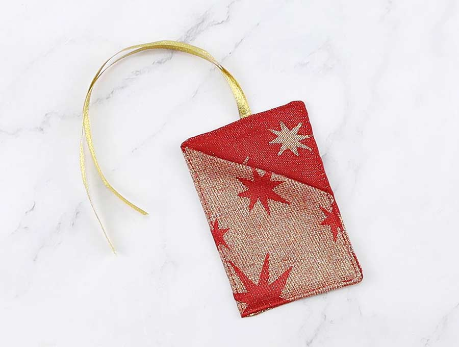 topstitched gift card holder