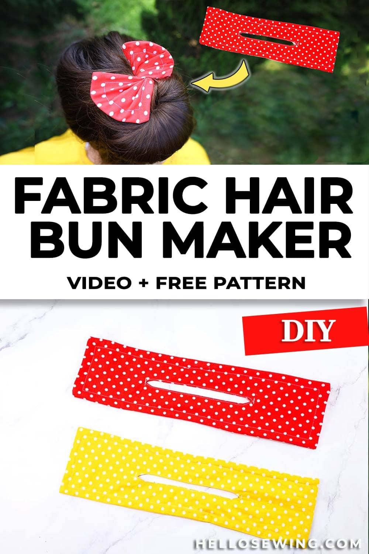 How to sew a hair bun maker