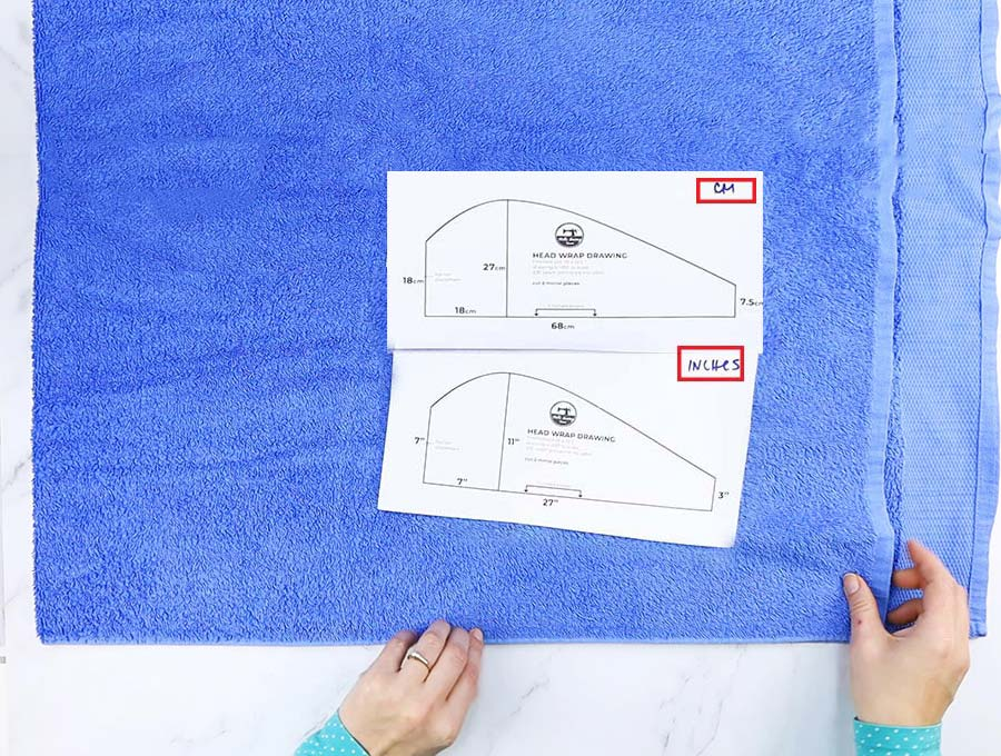 hair towel wrap pattern and folding the bath towel