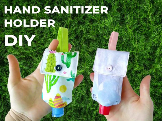 hand sanitizer holder DIY