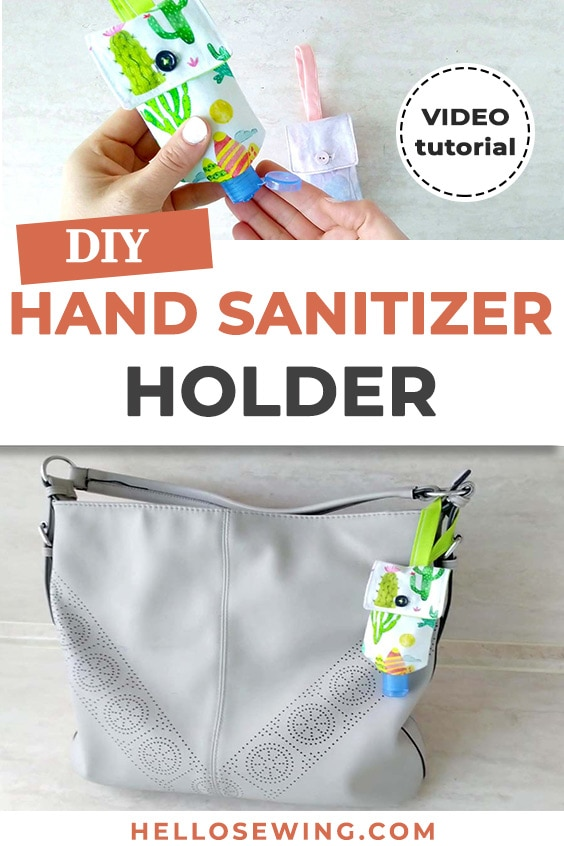 how to make a hand sanitizer pouch - step by step sewing tutorial