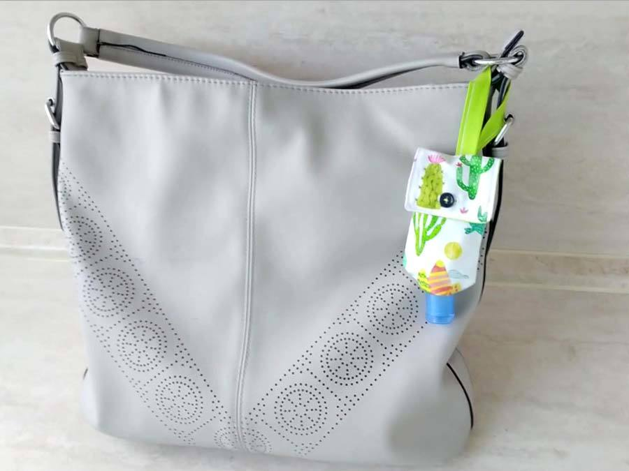 hand sanitizer holder for purse