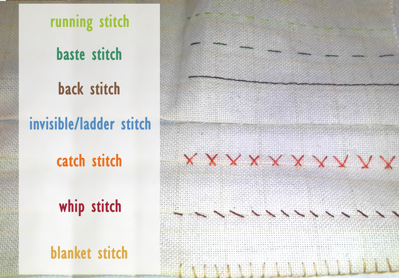 how to sew by hand - guide to the basic hand sewing techniques