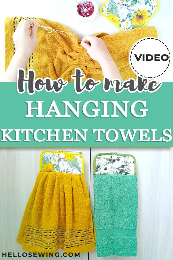 DIY Hanging Kitchen Towel – Sewing Tutorial – Sewing
