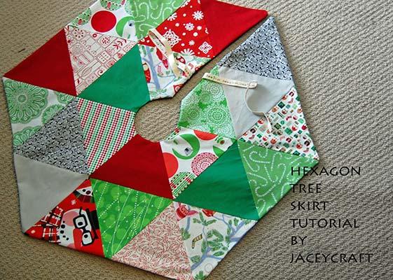 hexagon tree skirt pattern