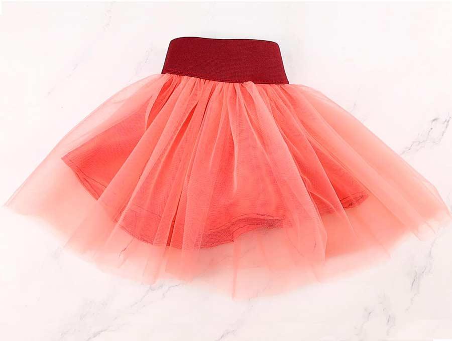 homemade tulle skirt for a girl