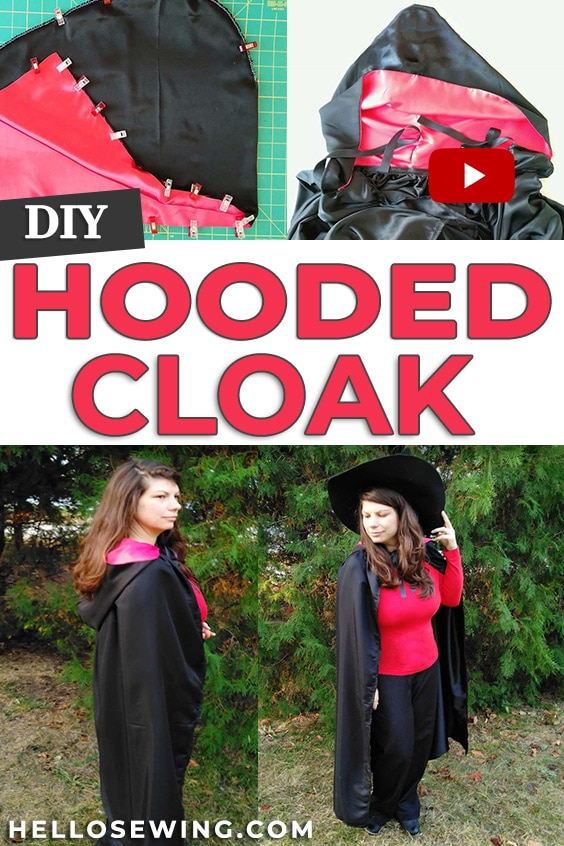 How to sew a cloak - DIY cloak with hood pattern and tutorial
