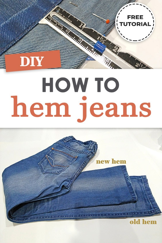 how to hem jeans and achieve professional look
