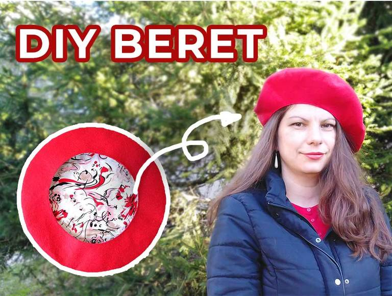 How to Make a Beret (FREE French Beret Hat Pattern + VIDEO)