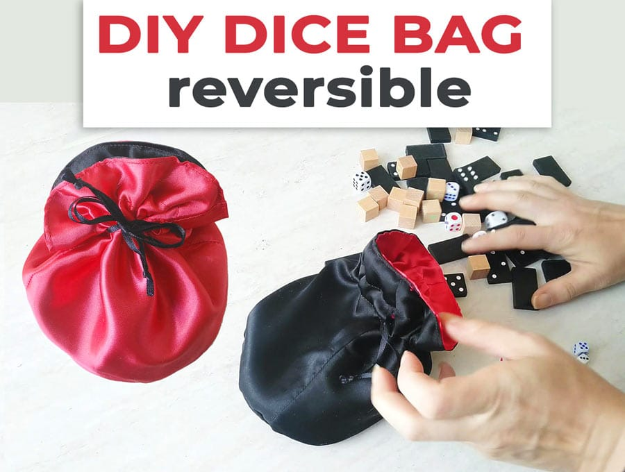 how to make a dice bag (reversible!)