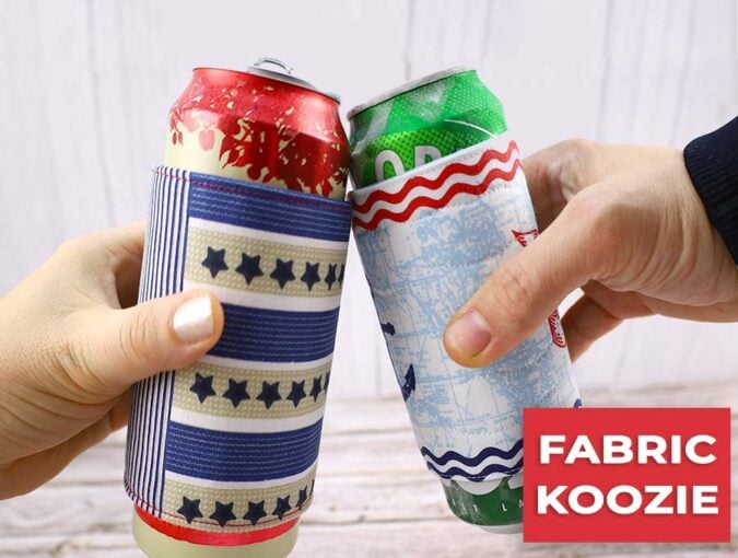 how to make a koozie - saying cheers with ice cold beer