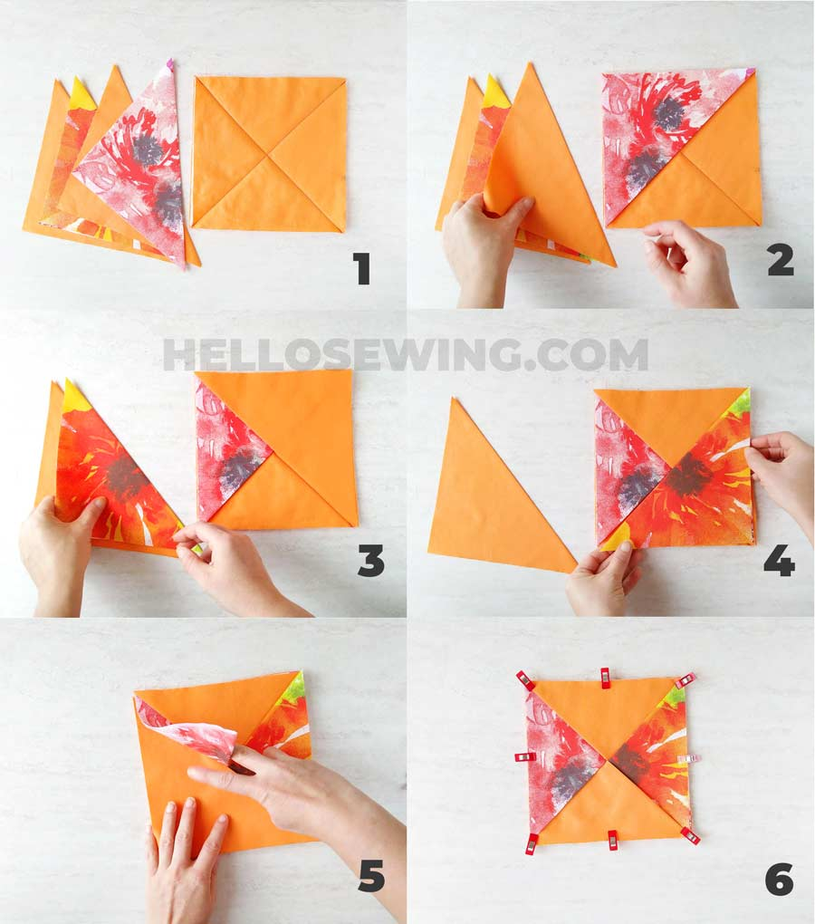 how to sew hot pads step by step in pictures