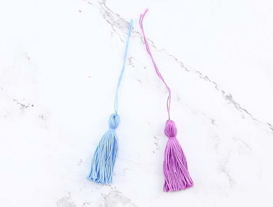 how to make tassels out of embroidery thread