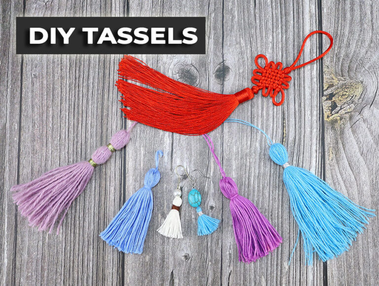 How to Make Tassels // DIY Tassel Out of YARN or Embroidery Thread