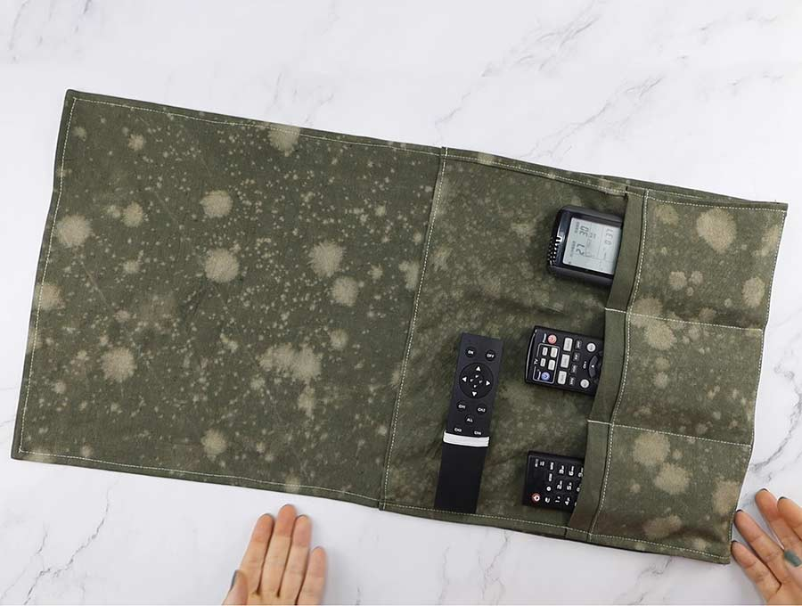 how to sew a remote control holder