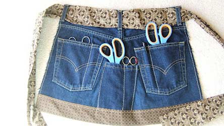 jeans sewing apron